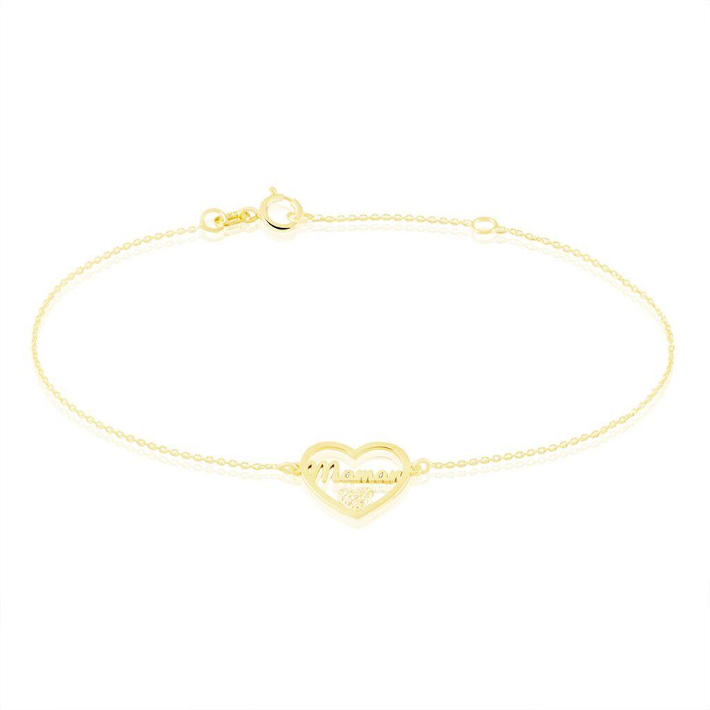 Bracelet Micarla Or Jaune Oxyde De Zirconium - Bracelets Coeur Femme | Histoire d'Or