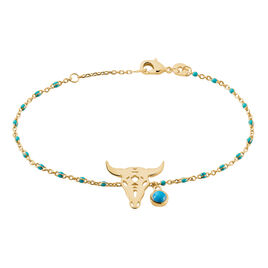 Bracelet Brit Plaque Or Jaune Pierre De Synthese - Bracelets fantaisie Femme | Histoire d'Or