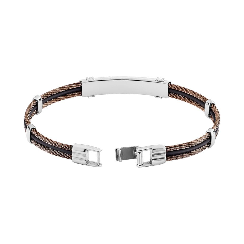 Bracelet Corelieae Or Acier Bicolore - Bijoux Homme | Histoire d'Or