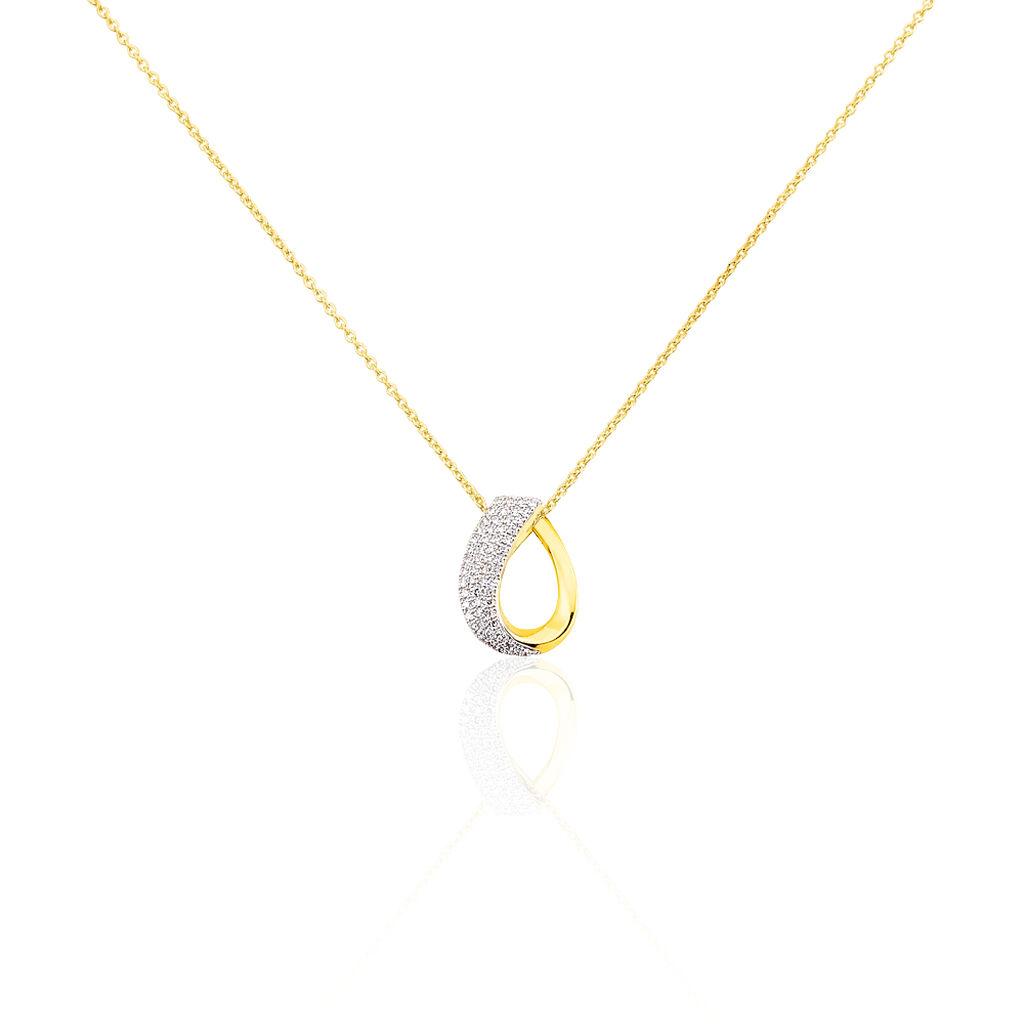 Collier Heidy Or Jaune Diamant - Bijoux Femme | Histoire d'Or