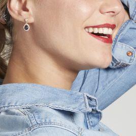 Boucles D'oreilles Pendantes Brigita Plaque Or Pierre De Synthese - Boucles d'oreilles fantaisie Femme | Histoire d'Or