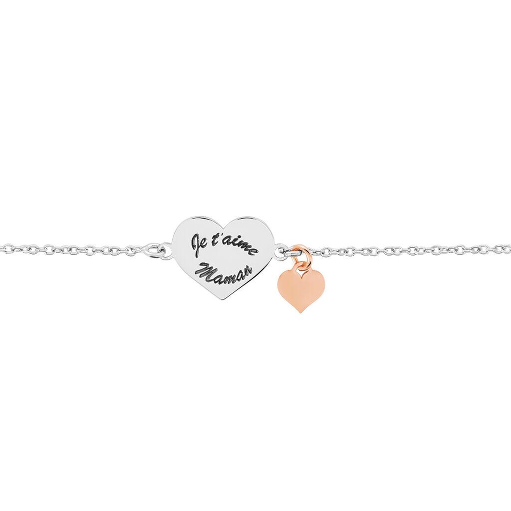 Bracelet Nathalie Argent Bicolore - Bracelets Coeur Femme   Histoire d'Or