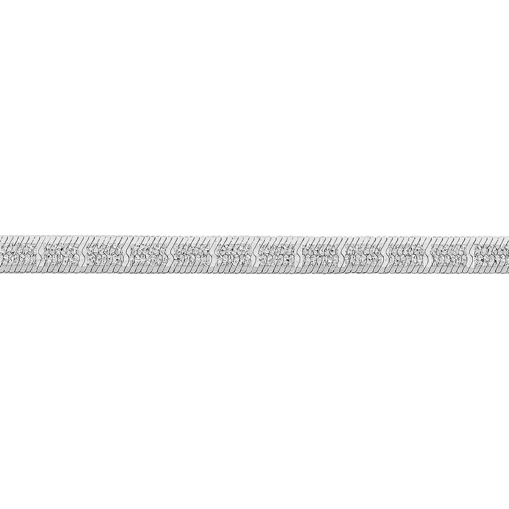 Collier Nuriaae Maille Heringbone Argent Blanc - Chaines Femme   Histoire d'Or