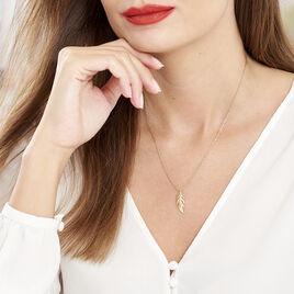 Collier Hanae Plaque Or Jaune - Colliers Plume Femme | Histoire d'Or