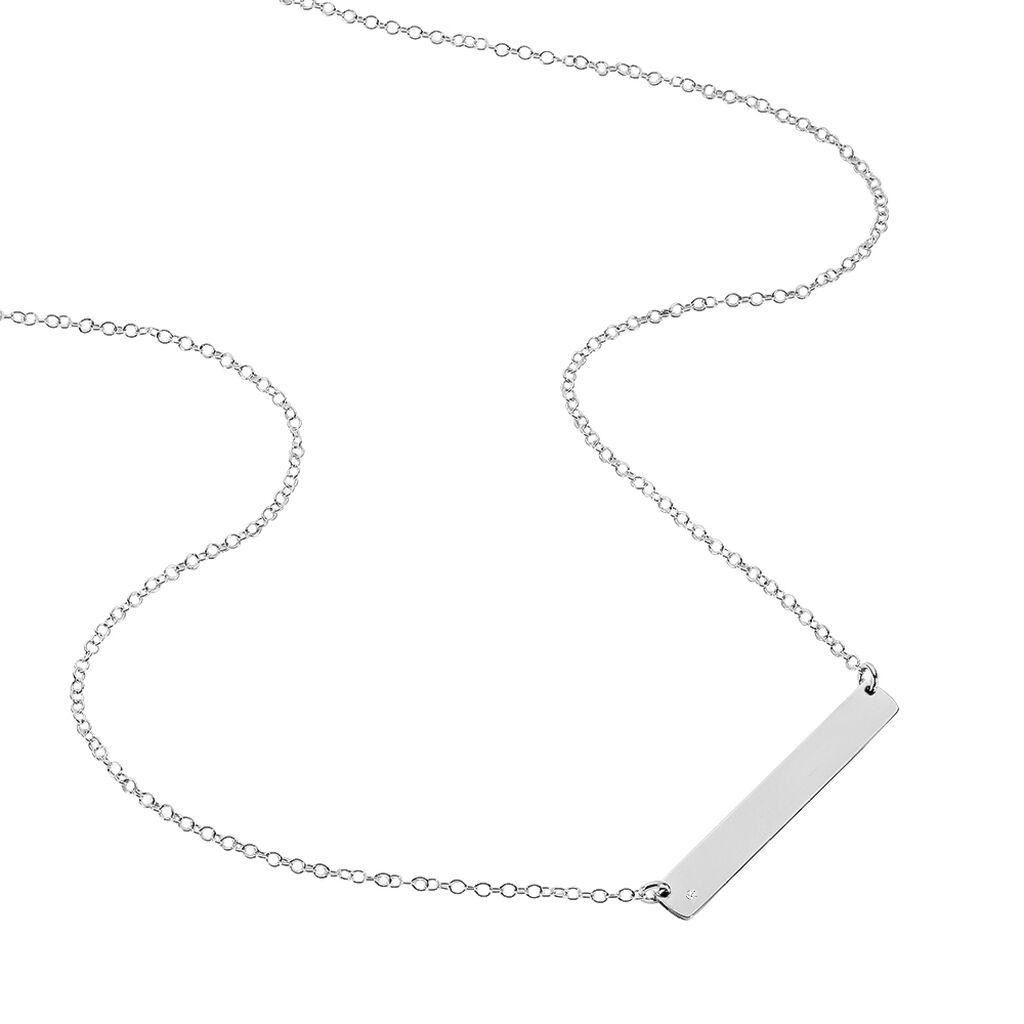 Collier Suzeanne Argent Blanc Oxyde De Zirconium - Colliers fantaisie Femme | Histoire d'Or