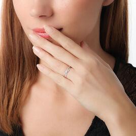 Bague Edwige Or Blanc Oxyde De Zirconium - Bagues solitaires Femme | Histoire d'Or