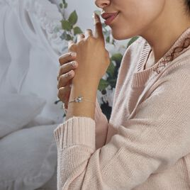 Bracelet Adalbert Argent Blanc Oxyde De Zirconium - Bracelets fantaisie Femme   Histoire d'Or