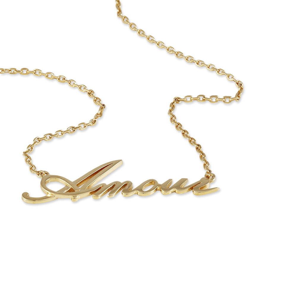Collier Yzia Plaque Or Jaune - Colliers fantaisie Femme   Histoire d'Or