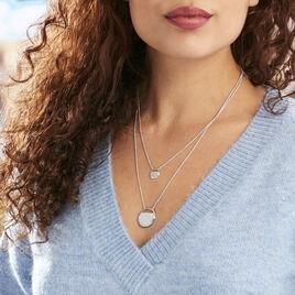 Collier Laetizia Clara Argent Blanc Oxyde De Zirconium - Colliers double et triple chaines Femme | Histoire d'Or