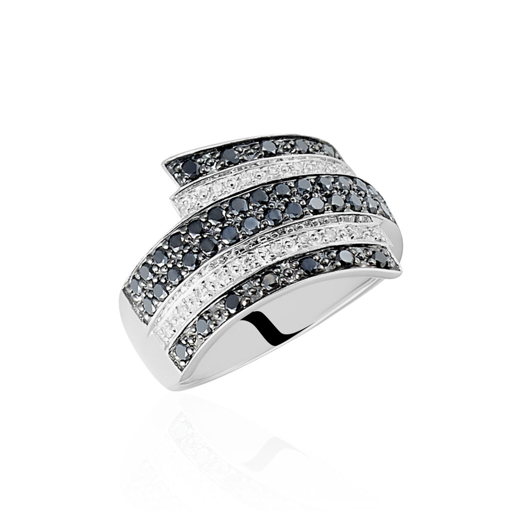 Bague Heldea Or Blanc Diamant - Bagues avec pierre Femme | Histoire d'Or