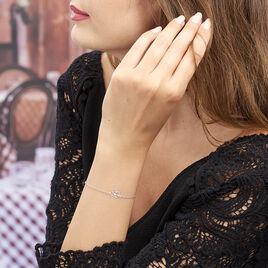 Bracelet Flora Argent Fleur - Bracelets fantaisie Femme | Histoire d'Or
