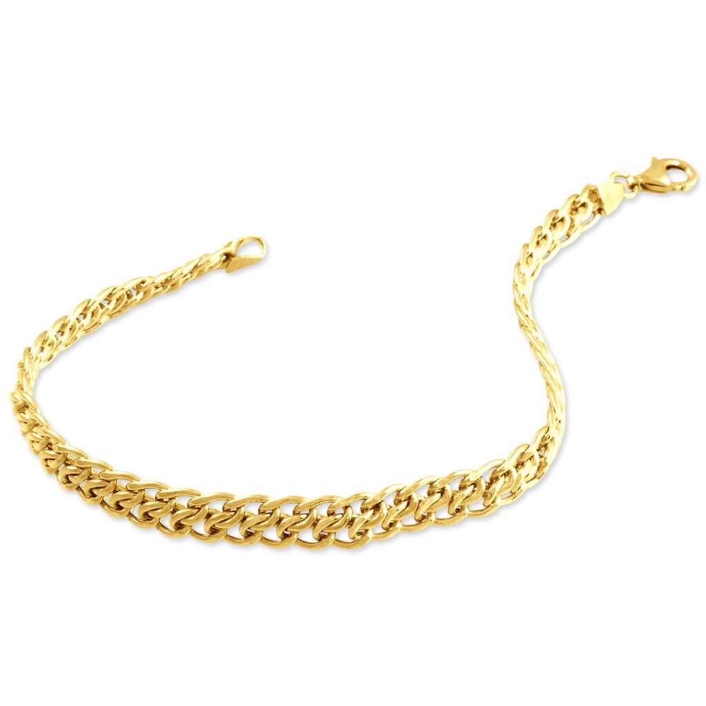 Bracelet Joline Maille Russe Or Jaune - Bracelets chaîne Femme   Histoire d'Or