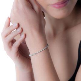 Bracelet Susanna Argent Blanc - Bracelets fantaisie Femme   Histoire d'Or