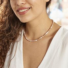 Collier Multicolore Or Jaune Perle De Culture - Bijoux Femme   Histoire d'Or