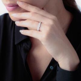 Bague Marie-eugenie Argent Blanc Oxyde De Zirconium - Bagues avec pierre Femme | Histoire d'Or