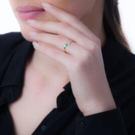 Bague Trieste Or Jaune Emeraude Et Diamant - Bagues solitaires Femme | Histoire d'Or