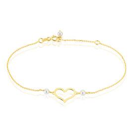 Bracelet Chabha Or Jaune Perle De Culture - Bracelets Coeur Femme | Histoire d'Or