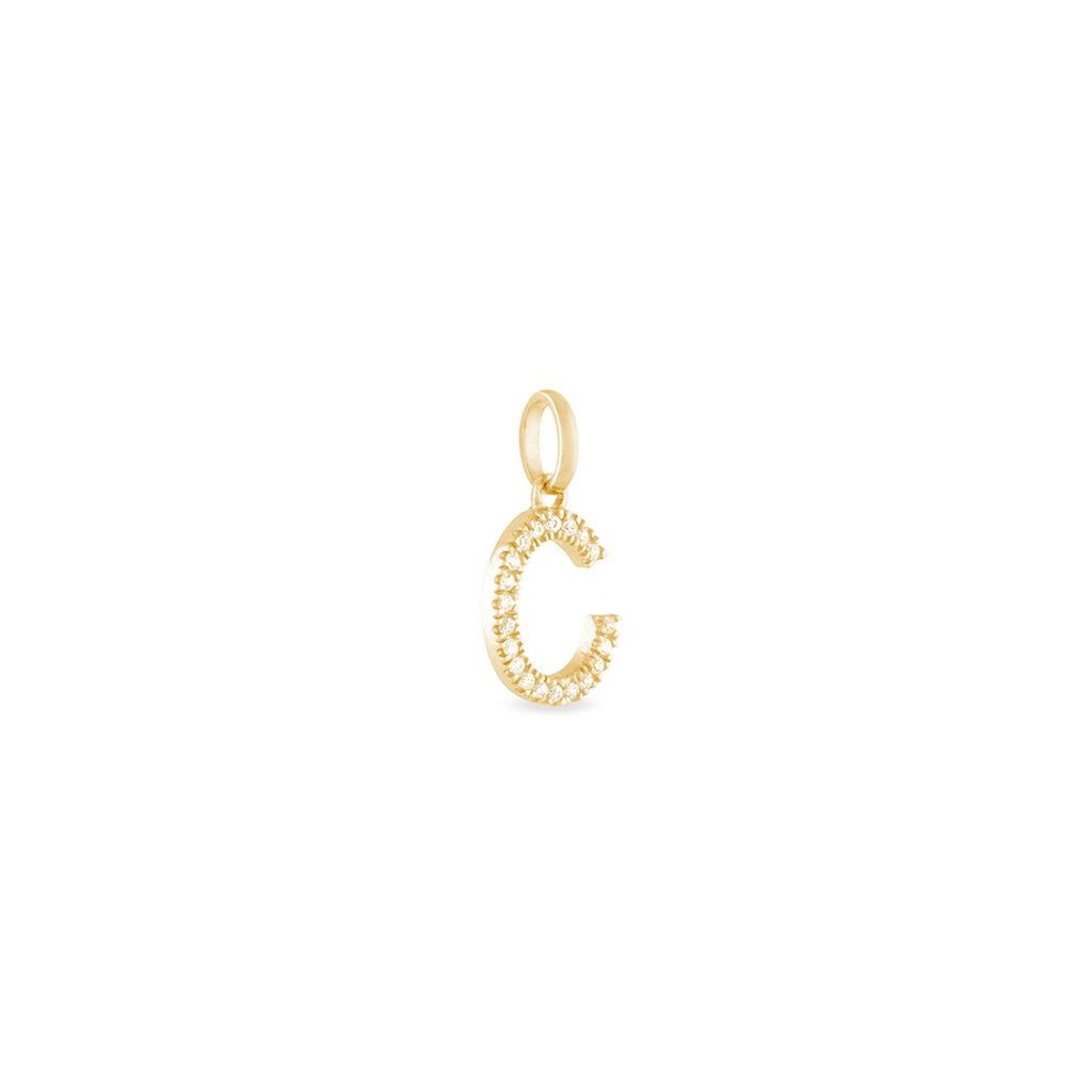 Pendentif Klementine Or Jaune Oxyde De Zirconium - Pendentifs Femme   Histoire d'Or