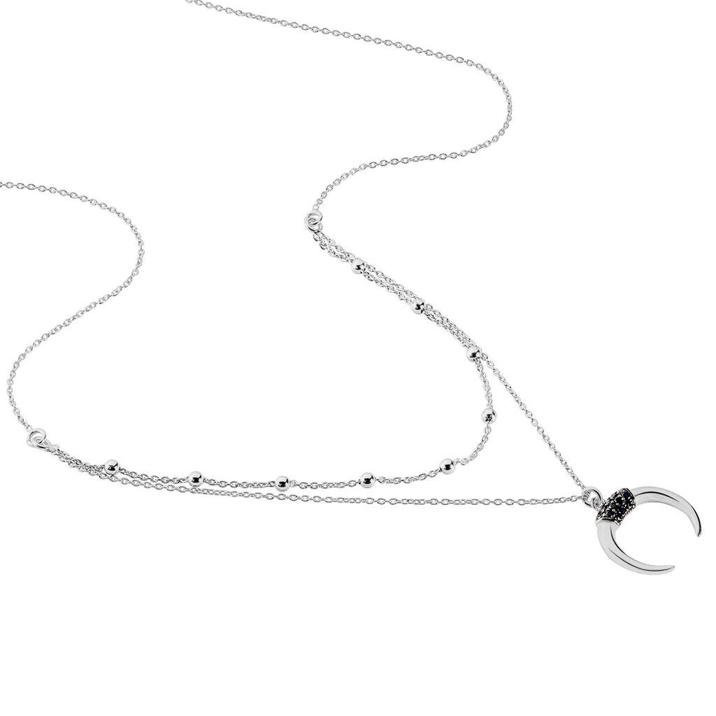 Collier Corneliana Argent Blanc Oxyde De Zirconium - Colliers doubles et triples chaînes Femme | Histoire d'Or