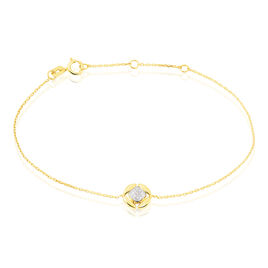 Bracelet Xaverine Or Bicolore Diamant - Bijoux Femme   Histoire d'Or