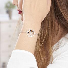 Bracelet Argent Arbre De Vie Ambre - Bracelets Arbre de vie Femme | Histoire d'Or