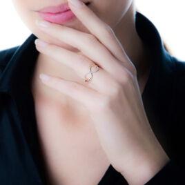 Bague Or Blanc Anais Diamants - Bagues Infini Femme | Histoire d'Or
