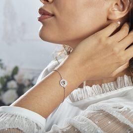 Bracelet Larry Argent Rhodié Oxydes De Zirconium - Bracelets fantaisie Femme | Histoire d'Or