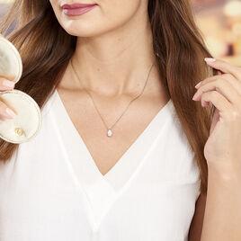 Collier Ea Plaque Or Jaune Oxyde De Zirconium - Colliers fantaisie Femme | Histoire d'Or