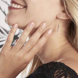Boucles D'oreilles Pendantes Plaqué Or Jaune Libby - Boucles d'Oreilles Plume Femme   Histoire d'Or