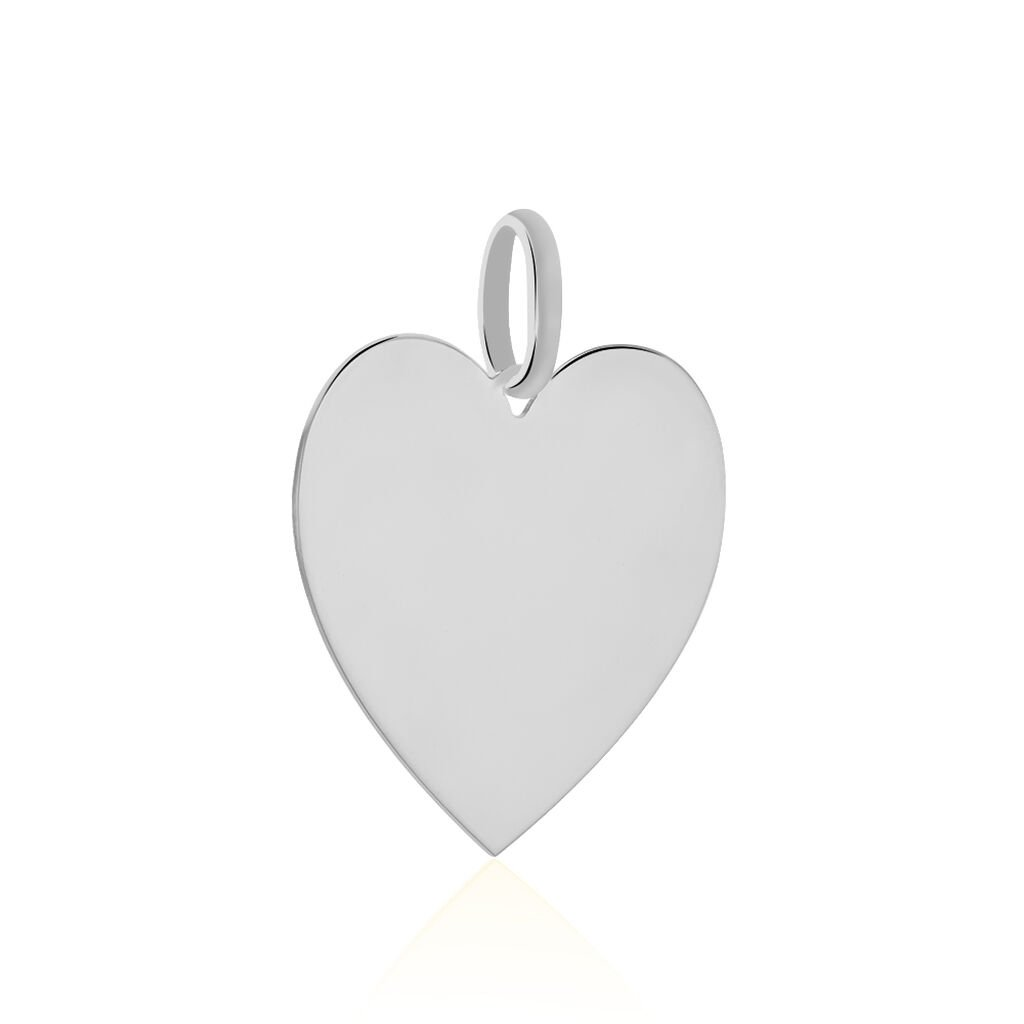 Pendentif Sirona Coeur Gravable Or Blanc - Pendentifs Coeur Femme | Histoire d'Or