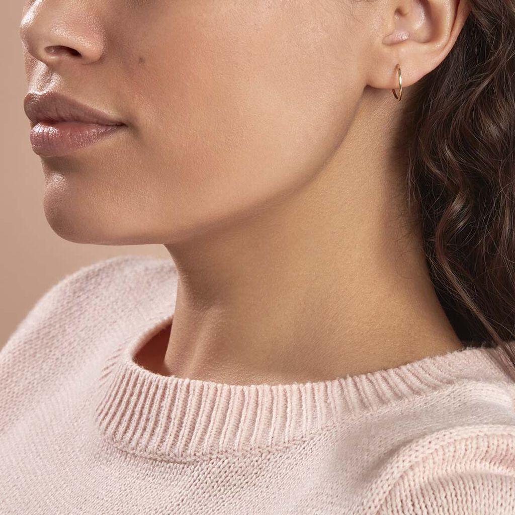 Créoles Valerina Ciselees Or Jaune - Boucles d'oreilles créoles Femme | Histoire d'Or