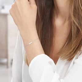 Bracelet Onaissa Argent Blanc Oxyde De Zirconium - Bracelets fantaisie Femme | Histoire d'Or