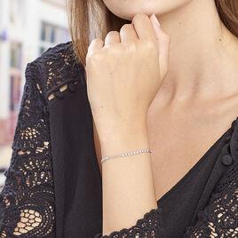 Bracelet Emna Argent Blanc Pierre De Synthese - Bracelets fantaisie Femme | Histoire d'Or