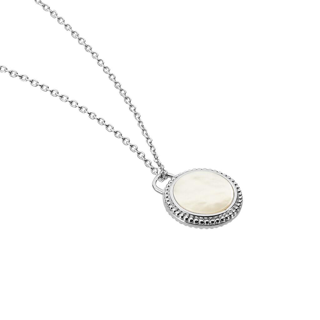 Collier Laetizia Celine Argent Blanc Nacre - Colliers Attrape rêves Femme | Histoire d'Or