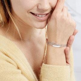 Bracelet Irenea Argent Blanc - Bracelets fantaisie Femme | Histoire d'Or
