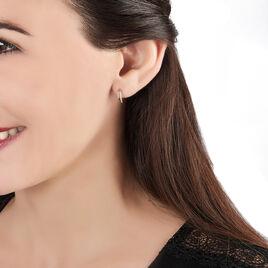 Boucles D'oreilles Puces Arslane Or Jaune Diamant - Boucles d'oreilles pendantes Femme | Histoire d'Or
