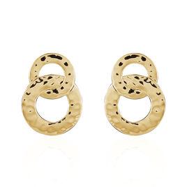 Boucles D'oreilles Pendantes Dolie Plaque Or Jaune - Boucles d'oreilles fantaisie Femme   Histoire d'Or