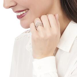 Bague Irina Argent Blanc Oxyde De Zirconium - Bagues avec pierre Femme   Histoire d'Or