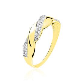 Bague Admète Or Jaune Diamant - Bagues avec pierre Femme   Histoire d'Or