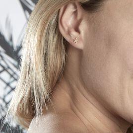 Boucles D'oreilles Or Jaune Aenor Puces - Boucles d'Oreilles Etoile Femme   Histoire d'Or