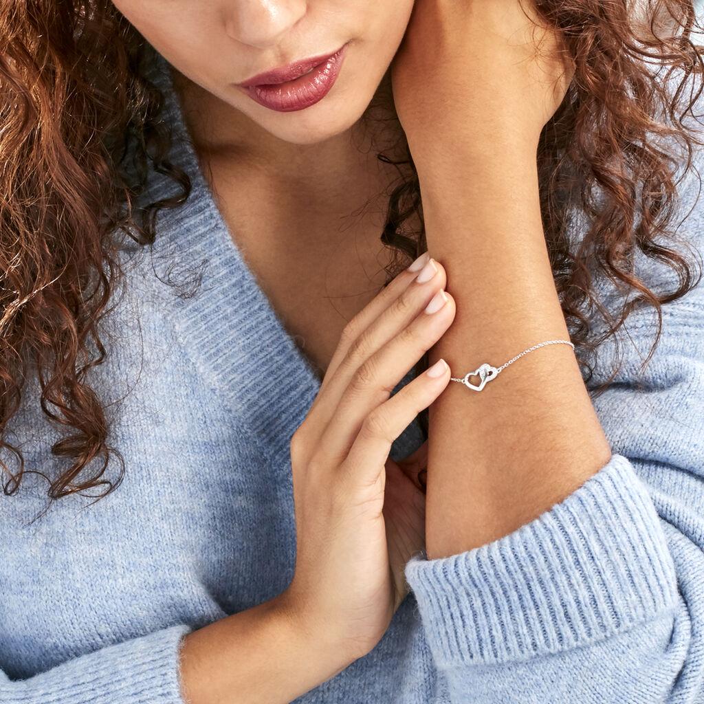 Bracelet Azylis Argent Blanc Oxyde De Zirconium - Bracelets Coeur Femme   Histoire d'Or