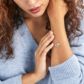 Bracelet Azylis Argent Blanc Oxyde De Zirconium - Bracelets Coeur Femme | Histoire d'Or