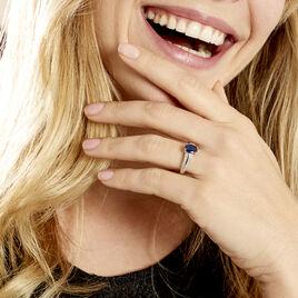 Bague Brewal Or Blanc Saphir Diamant - Bagues avec pierre Femme | Histoire d'Or