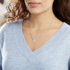 Collier Noela Argent Blanc - Colliers Plume Femme | Histoire d'Or
