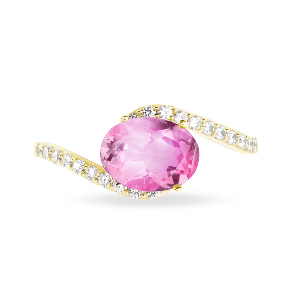 Bague Loriane Or Jaune Tourmaline Et Diamant - Bagues avec pierre Femme | Histoire d'Or