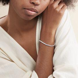 Bracelet Tennis Argent Blanc Oxyde De Zirconium - Bijoux Femme   Histoire d'Or