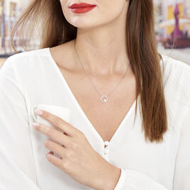Collier Marthe Argent Blanc Perle De Culture Et Oxyde De Zirconium - Colliers fantaisie Femme | Histoire d'Or