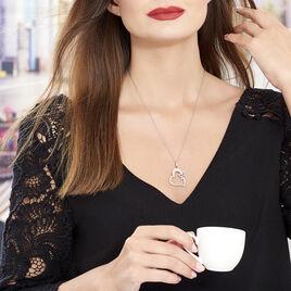 Collier Satou Acier Blanc - Colliers Coeur Femme | Histoire d'Or