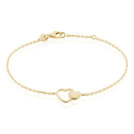 Bracelet Karelae Plaque Or Jaune - Bracelets Coeur Femme   Histoire d'Or