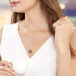 Collier Anissa Argent Blanc Céramique Et Oxyde De Zirconium - Colliers Coeur Femme | Histoire d'Or